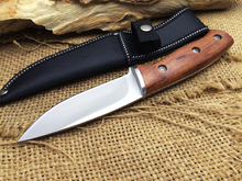 BUCK Camping Fixed Knives 440 Blade Solid Wood Handle
