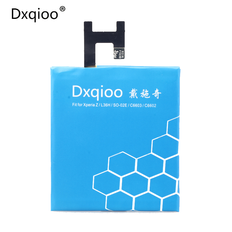 Dxqioo  Brand battery LIS1502ERPC for sony xperia z L36H lt36h L36i SO-02E C6603 c6602 mobile phone battery