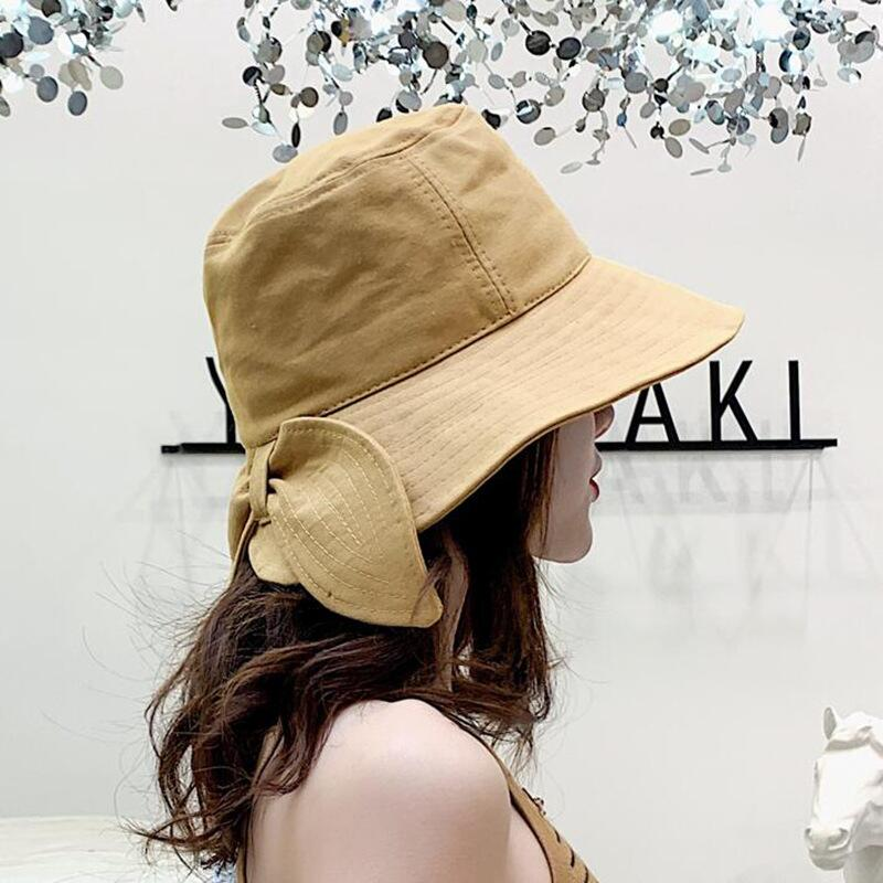 BINGYUANHAOXUAN Fashion Soft Bow Bucket Hats Black Yellow Bob Cap Hip Hop Gorros Women Panama Fishing fisherman Hat Wholesale in Women 39 s Bucket Hats from Apparel Accessories