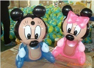 36 PCS Mickey & Minnie PVC Inflatable toys for children games Kids birthday gifts, air-filled Height 38cm