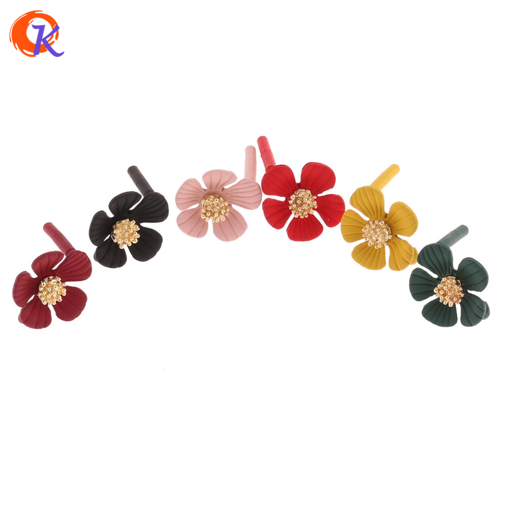 Cordial Design 50Pcs 17*19MM Jewelry Accessories/Earring Stud/DIY Jewelry/Flower Shape/Zinc Alloy/Hand Made/Earring Findings