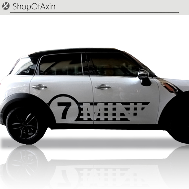 Car rokcer panel door decoration sticker decal 7 logo style for mini cooper countryman r60