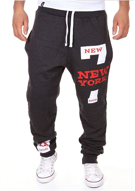 Mens Joggers 2016 Men'S Fashion Letters Printing Design Leisure Mens Joggers Department Of Bandwidth Loose Men Pants