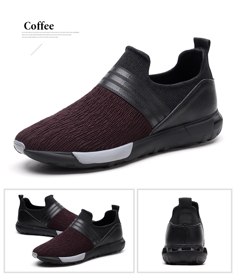 Shoes Mens Casual Slip-on Shoes Dual Flexible Plate Smooth Genuine Leather Low Top Driving Shoes Men Shoes