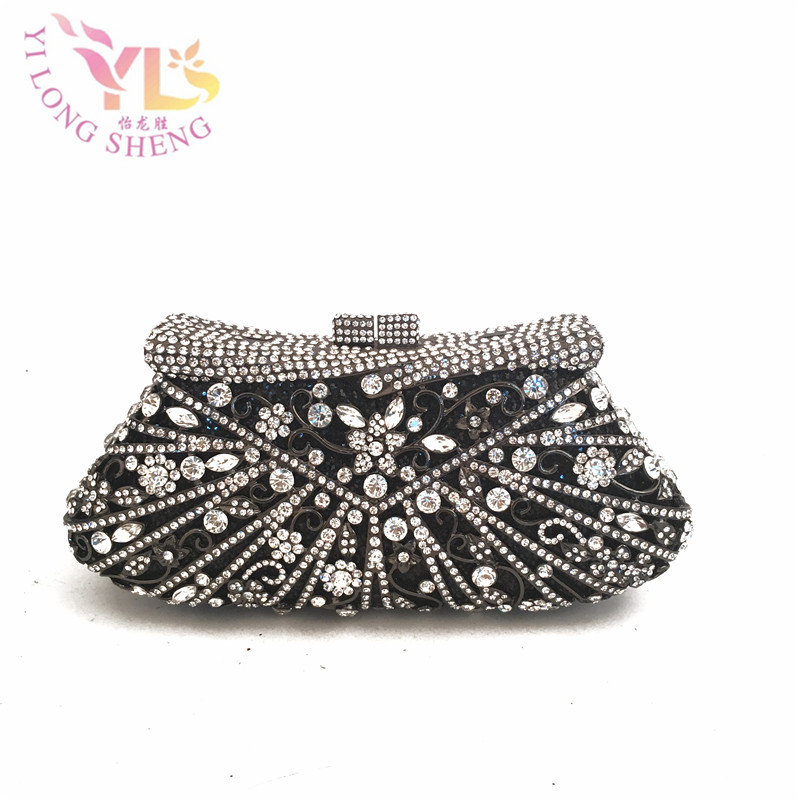 Crystal Luxury Filled Party Bags Clutch Bags Cross Body Bags Evening Hand Bag Purse Evening Handbags Clutches Cross Body YLS-F94 diesel frill trim cross body bag
