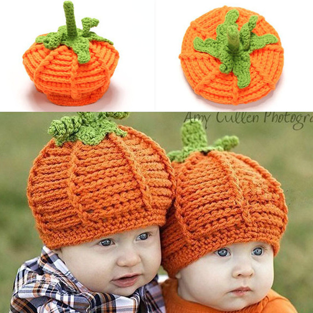 9fa4f6541c6 Retail Children Accessories Newborn Infant Handmade Crochet Baby Pumpkin Hat  Knit Photography Photo Props Hat XDT-144