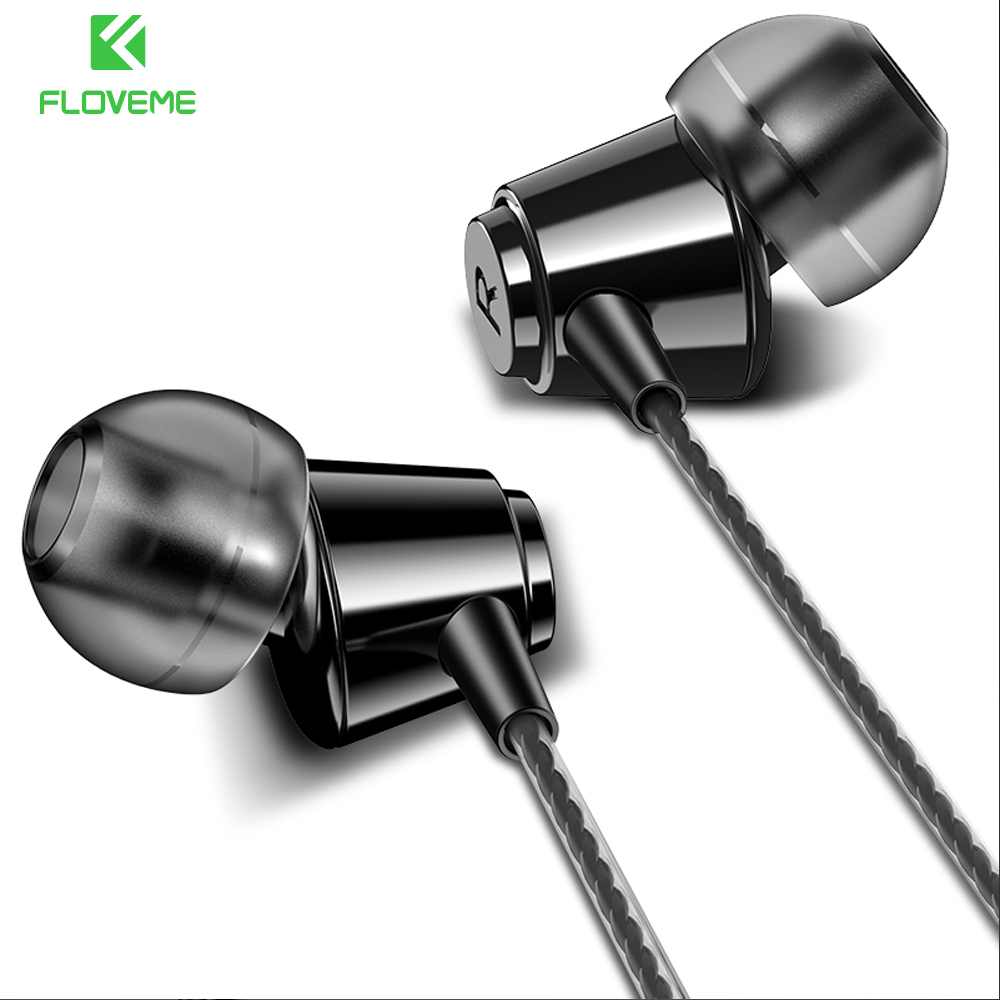 FLOVEME In-ear Earphone HiFi Stereo Heavy Bass Music 3.5mm With Mic Earbuds Earphone For iPhone Samsung Xiaomi Fone De Ouvido