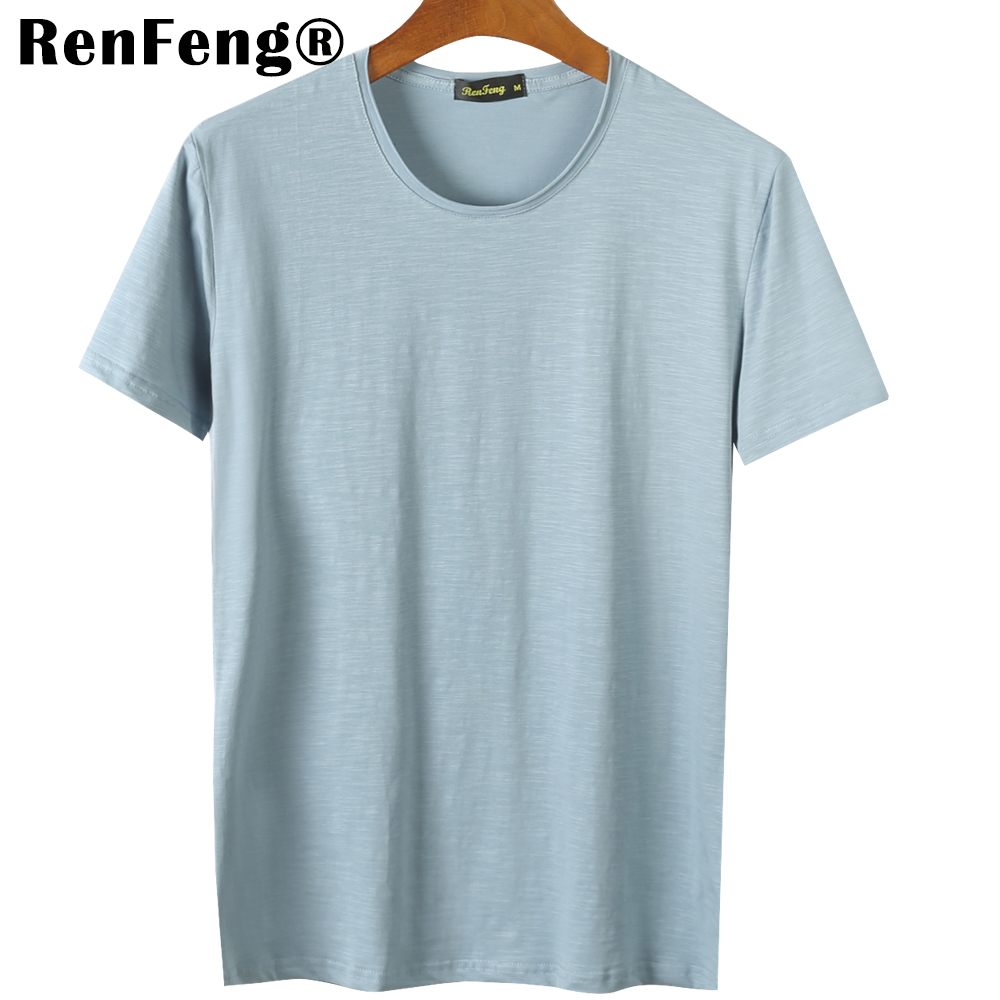 Blank T-Shirt Men T Shirt Short Sleeve Tshirts Solid Bamboo Fiber Homme Tee Shirt For Men 3XL Hot Sale Summer Clothes Colorful (3)