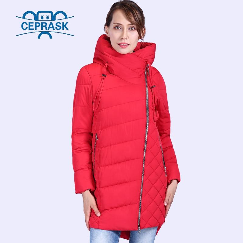 CEPRASK 2018 New High Quality Winter Jacket Women Plus Size Long Hat Bio fluff Women's   Parka   Winter Coat Hooded Warm Down Jacket