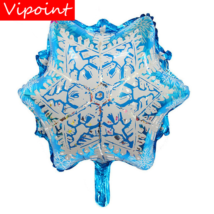 VIPOINT PARTY 50x57cm white blue snowflower star foil balloons wedding event christmas halloween festival birthday party HY-251