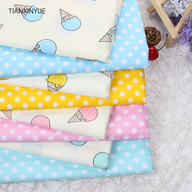 TIANXINYUE Ice cream fabric 95% Cotton Fabric quilting Baby Cloth ... : cotton fabric quilting - Adamdwight.com