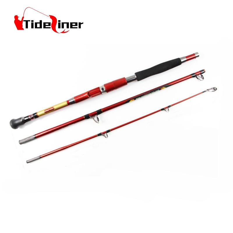 Prix pour 1.8 m 2.1 m En fiber de Carbone spinning jigging Bateau de pêche à la traîne 3 sections 30-50LB de pêche-matériel de pêche tiges pôle s'attaquer
