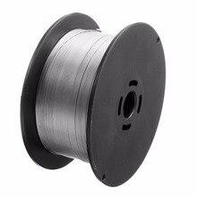 1 rolo de aço inoxidável fio de soldadura 0.8mm 500g/1kg solid cored mig soldador ferramentas para alimentos/equipamento químico geral 100x45mm