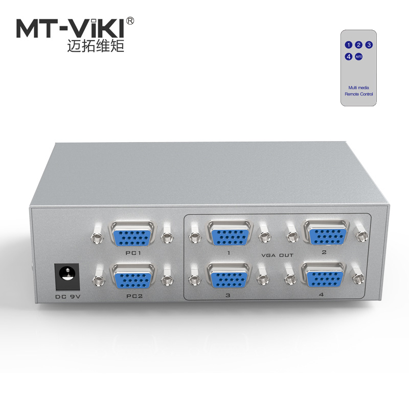 все цены на MT-VIKI 2 VGA in 4 VGA out Video Switch Splitter PC Selector Image Distributor IR Remote Control 350MHz Widescreen MT-204CB