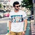 2016 Summer Fashion Men T-shirt Corto Sleves Para Hombre de Gran Tamaño Ropa Suelta XXXL XXXXL XXXXXL 6XL Camiseta Homme 601 camiseta