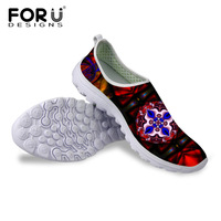 Summer Outdoor Walking Shoes Breathable Mesh Men Shoes Super Lightweight Flats Sneakers Unisex Shoes Unique Pattern Printing