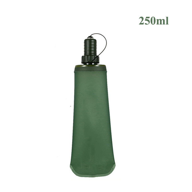 250ml/500ml Foldable TPU Outdoor Sport Bottle Hydro Soft Flask Collapsible Drink Water Bottle for Running Camping Hiking Bicycle