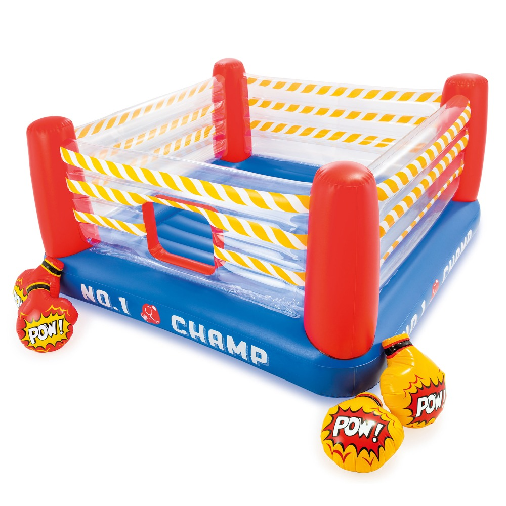 INTEX inflatable bounce JUMP-O-LENE 89 inch play boxing ring bouncer for  kids age 5-7 with gloves inflated bouncy play toys