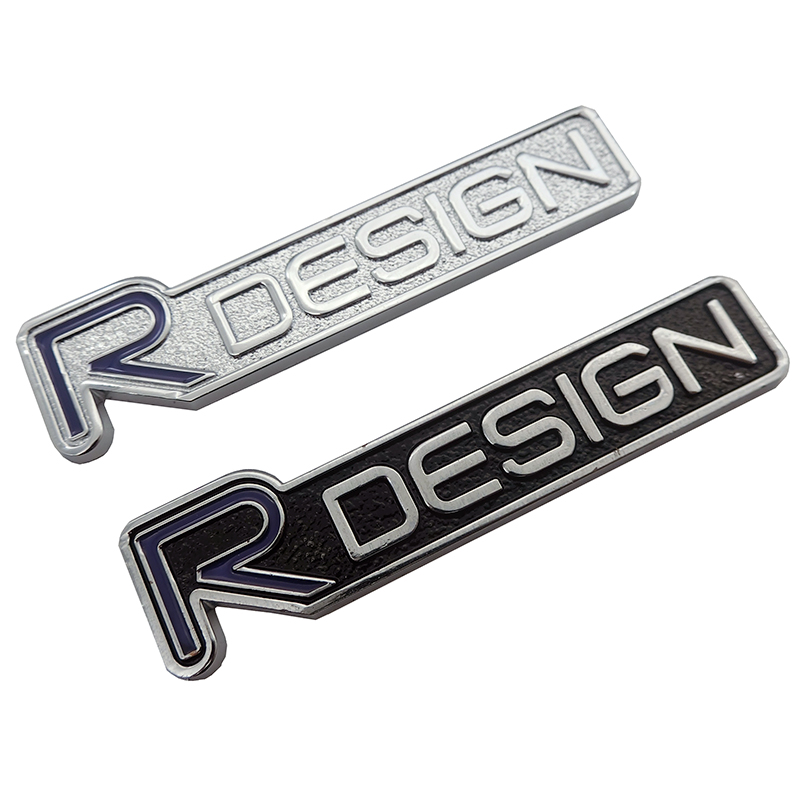 3D metal Zinc alloy R DESIGN RDESIGN letter Emblems Badges Car sticker car styling Decal For <font><b>Volvo</b></font> <font><b>V40</b></font> V60 C30 S60 S80 S90 XC60 image