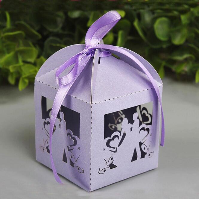 50ชิ้น/แพ็คนายและนางแต่งงานลูกอมกล่องขนมกล่องของขวัญด้วยริบบิ้นพรรคตกแต่งของขวัญแต่งงาน...