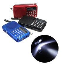 Мини Портативный Перезаряжаемый цифровой светодиодный дисплей Панель Стерео FM радио динамик USB TF mirco для SD карты MP3 музыкальный плеер