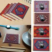27x18cm Persian Mini Woven Rug Mat Mousepad Retro Style Carpet Pattern Cup Mouse Pad with Fringe Home Office Table Decor Craft(China)