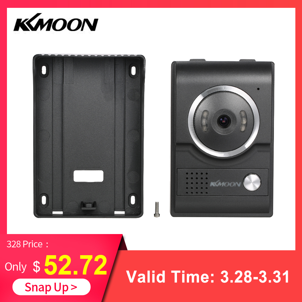 KKmoon 4 3 Touch Screen Wired Video Door Phone System Visual Intercom Doorbell 700TVL Outdoor Infrared