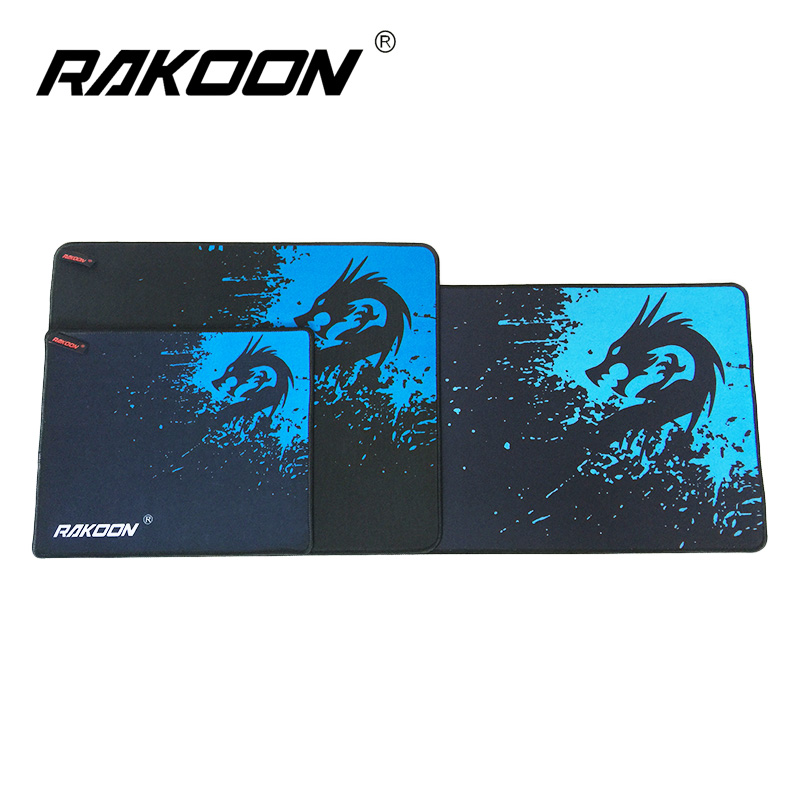 Rakoon Blue Dragon Large Gaming Mouse Pad Locking Edge Mousepad Speed/Control Mouse Mat For CS GO League of Leg Dota 6 Size stitched edge rubber cs go large gaming mouse pad pc computer laptop mousepad for apple logo style print gamer speed mice mat