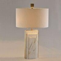 Американский простые геометрические Джаз белый Мрамор Творческий Настольные лампы Современная роскошь Творческий Книги по искусству диза