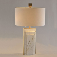 American Simple Geometric Jazz White Marble Creative Table Lamps Modern Luxury Creative Art Designer Sample Room