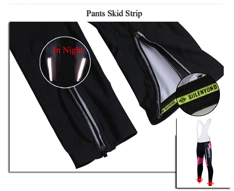 Siilenyond 2019 New Women Winter Pro Keep Warm Cycling Bib Pants Thermal Cycling Trousers With 3D Coolmax Gel Pad 8