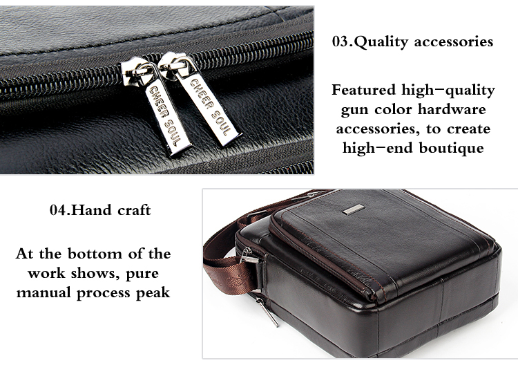 High Quality leather man bags
