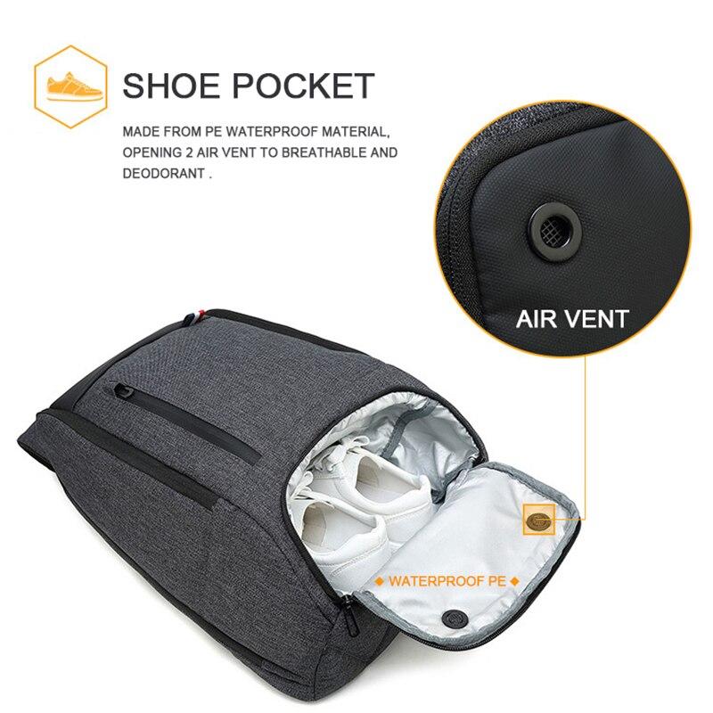 Sac à dos de voyage pour ordinateur portable Smart Bag 16.5 sacs à dos pour ordinateur portable hommes femmes garder au frais grands sacs en plein air imperméable noir sac à dos Business - 3