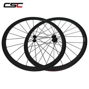 Image 1 - CSC Carbon Road Wheels 38mm 50mm 60mm 88mm Tubular Clincher Carbon Aero Wheel U Shape R13 Hub CN or SAPIM CX RAY CX RAY Spokes
