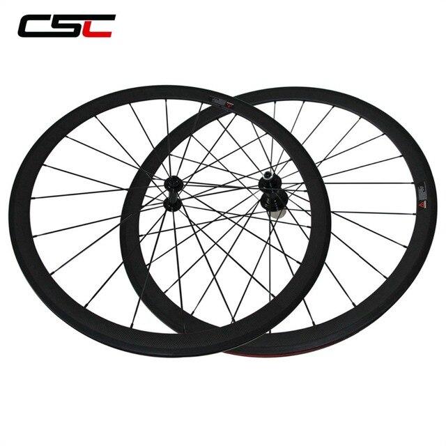 CSC Carbon Road Wheels 38mm 50mm 60mm 88mm Tubular Clincher Carbon Aero Wheel U Shape R13 Hub CN or SAPIM CX RAY CX RAY Spokes