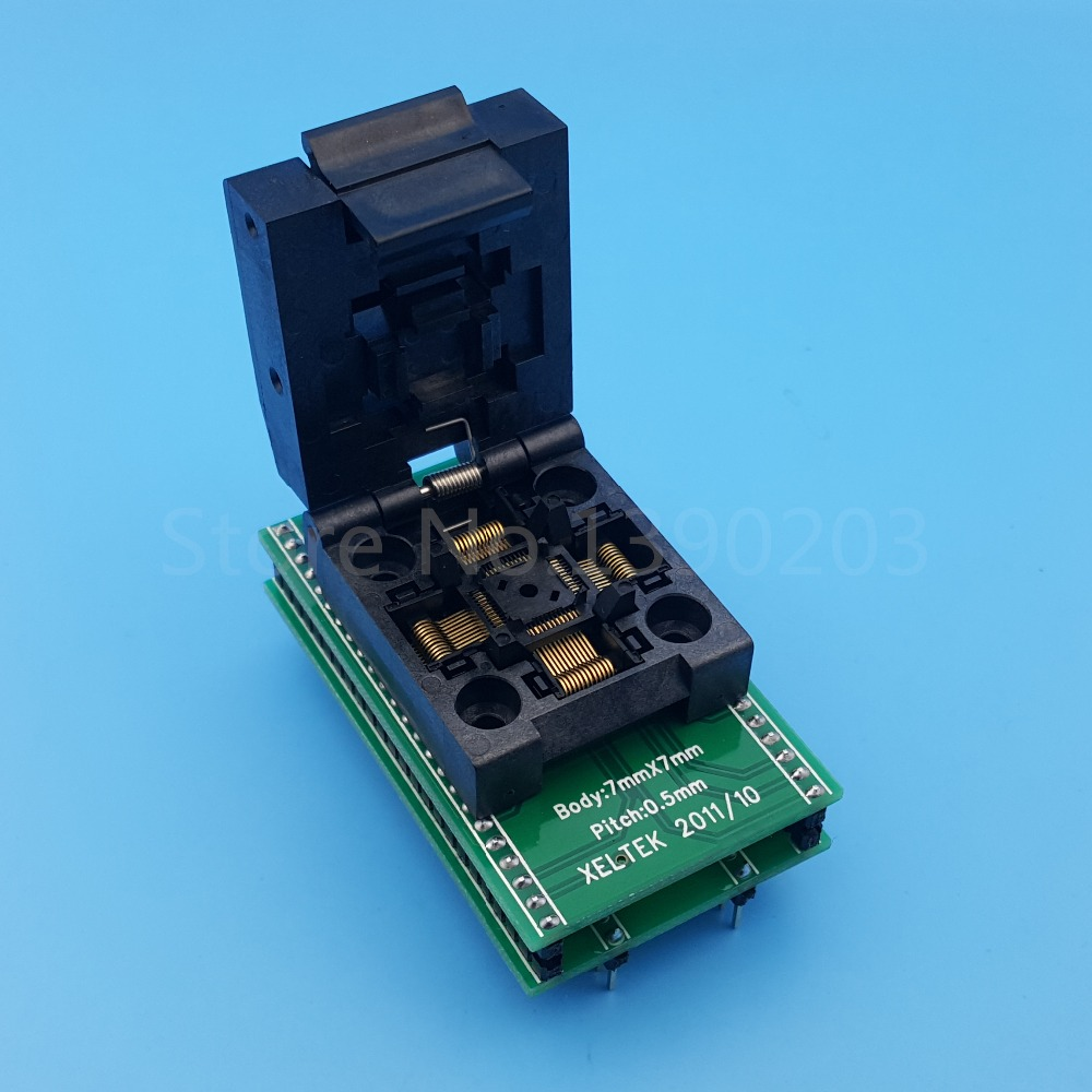 TQFP48 QFP48 To DIP48 SA248 IC Programmer Adapter Test Socket 0.5mm Pitch tqfp48 to dip48 programmer adapter qfp48 ic test socket 1pin to 1pin pitch 0 5mm size 7mmx7mm 9mm 9mm