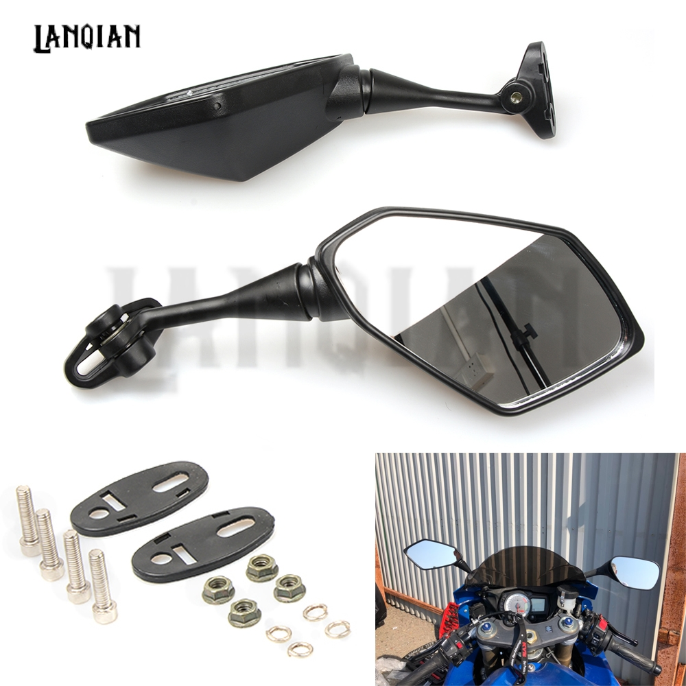 Motorcycle Mirror Black Moto Rearview Side Mirror For Yamaha YZF600 YZF R1 R6 R3 R125 R25 R15 2003 2004 2005 2006 2007 2008 2009
