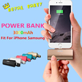 Newest Design 2600mAh Emergency Power Bank External Charger Rechargeable Battery Powerbank For iphone 7 7 PLUS 6 6s iPAD Samung