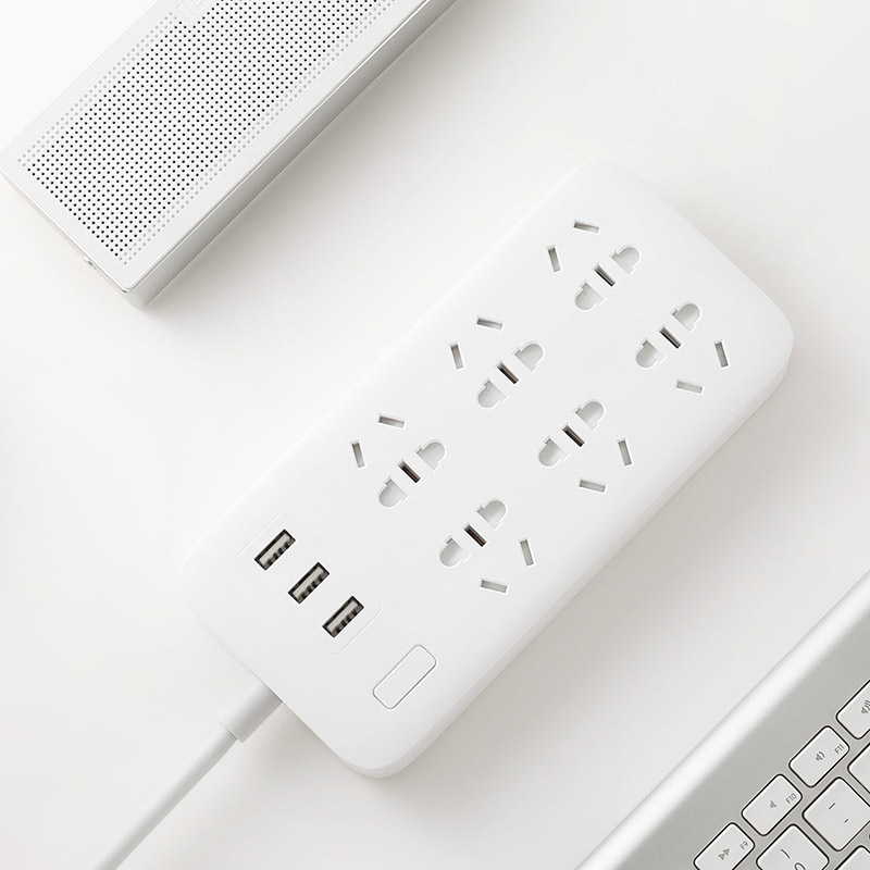 Original Xiaomi Smart Power Strip 2.1A Fast Charging 3 USB Extension Socket Plug 6 Standard Socket Adapter US UK EU AU