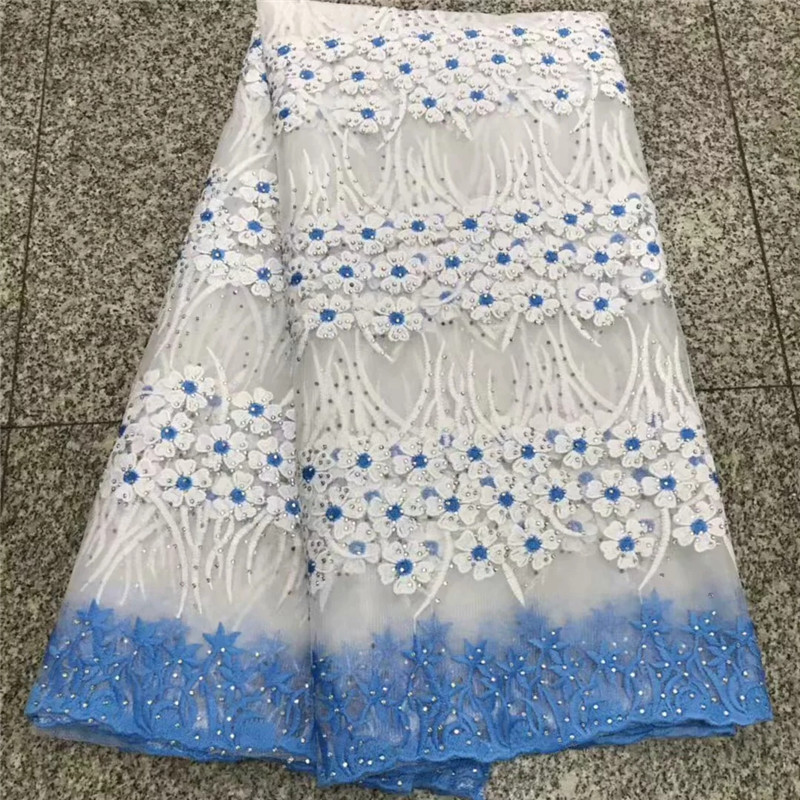 White Beaded Appliqued Lace Fabric High Quality Latest African Lace 2018 Noble Handmade 3d Lace Fabric For Nigerian Party Fxa7 Ebay Motors