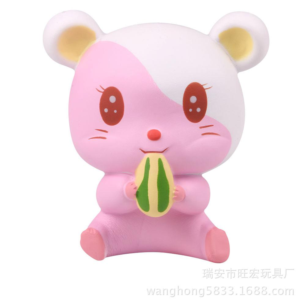 LeadingStar Cartoon Soft Simulation Hamster Toy Slow Rising Squishy Stress Relieve Squeeze Toys Gifts