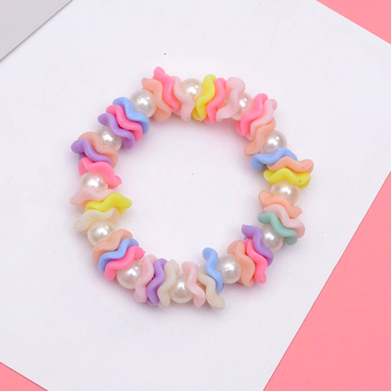 SUKI Bangle Bracelet Jewelry Pearl-Beaded Acrylic Imitation Colorful Children Birthday-Gift