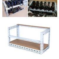 New Crypto Coin Open Air Mining Miner Frame DIY Stackable Rig Bitcoin BTC Fame Case For