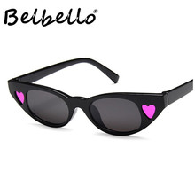 Belbello Metal Sunglasses New Style Women Love Peach  Color Solid Fashion Most Popular Trend