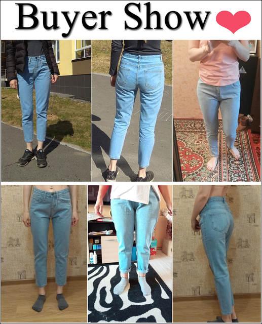 b26301eb83d8 2019 Inverno Sólida Lavagem Namorado Feminino Calça Jeans de Cintura Alta  Para Calças Lápis Denim Jeans Mãe Longo Calças Mulher Plus Size 25 34 em  Calças de ...