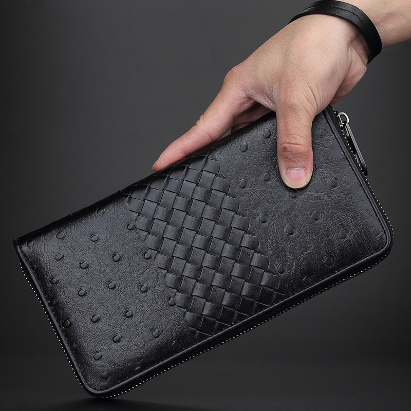 Men's Clutch Made Of Genuine Leather Purse Men Wallets Business Card Holder Luxury Designer Brand Wallet Men's Purse Clutch Male brand men wallets dollar price purse genuine leather wallet card holder luxury designer clutch business mini wallet high quality