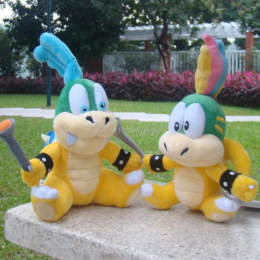 Larry & Lemmy Koopa Super Mario Bros Plush Toys Bowser Koopalings Son Toy Stuffed Animal Doll Baby Gift(China)