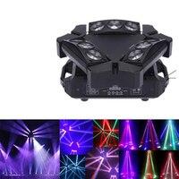 Быстрая доставка Мини светодиодный Луч паук 9x10 Вт RGBW Поворотная лампа светодиодный сценический свет хорошо подходит для DJ вечеринок диско ...