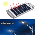 20 Вт 40 шт. светодиодный датчик на солнечных батареях настенный уличный свет лампа из алюминиевого сплава водонепроницаемый IP67 для наружног...