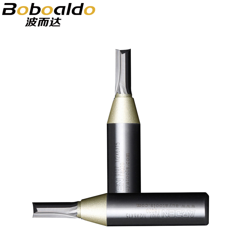 1/4 Shank Solid Carbide Insert Straight Cutters TCT Two Flutes Straight Bits Tungsten Carbide CNC Cutter Arden Router Bit 10107 1 4 x 3 8 inch straight bit tungsten carbide professional 1 4 shank 3 8 blade router bit wood sharp cutter two flute wsasc